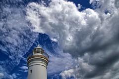 Lighthouse blues. (Ian Ramsay Photographics) Tags: kiama newsouthwales australia lighthouse amazing array varied patterns enshrouded cloud weather blues nature sky