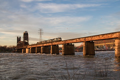 NS 60C at Tennbridge (travisnewman100) Tags: norfolk southern ns train railroad rr freight slab steel unit sd70ace es44ac c449w ge emd cnotp 3rd district alabama division 60c sunset