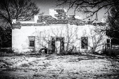 School's Out (J K German) Tags: kansas school snow waldron abandoned decay rural old empty