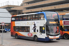 SE 10872 @ Peterborough Queensgate bus station (ianjpoole) Tags: stagecoach east alexander dennis enviro 400mmc yx67vdj 10872 working route 1 ferryview orton wistow three horseshoes werrington