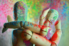 Festival of Colours (Holi) (Photography is the story I fail to put into words) Tags: festivalofcolours macromondays pastel holi holifestivalofcolours macro nikon nikond3200 hmm