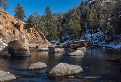 January in Colorado (mnryno) Tags: cheesmancanyon deckers southplatteriver flyfishing colorado winter river