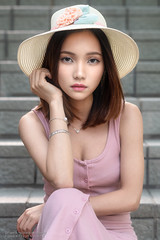 Virginia (Francis.Ho) Tags: virginia hat xt2 fujifilm girl woman female femme lady portrait people beauty pretty lips eyes hair face chinese elegant glamour young sensuality fashion naturallight cute goddess model asian daylight sunlight outdoor