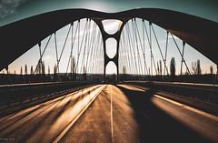Osthafenbrücke... (hobbit68) Tags: brücken frankfurt am main sonne sonnenschein sky sommer sunset sonnenuntergang sun sunshine sony alpha 7 bridge schatten shadows