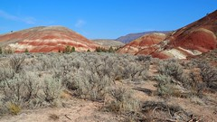 The Painted Hills (Eclectic Jack) Tags: eastern oregon trip october 2018 rural agriculture autumn fall abandoned john day johndaycentral sky blue red rock