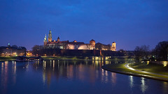 Blue Hour Castle (radkuch.13) Tags: cracow kraków castle river water bluehour reflections sony sonyalpha a7rii poland medieval europe history historic