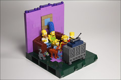 Lego Simpsons (argosgreen) Tags: lego simpsons krusty burns homer marge vignette scene