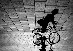Shadow Biker (CoolMcFlash) Tags: biker street streetphotography candid vienna fujifilm person city citylife silhouette bike bicycle ride fahrrad schatten strase wien stadt kontur rad fotografie photography x30