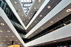 V in V (roberke) Tags: architecture architectuur modern gebouw building binnen etages verdiepen lijnen lijnenspel lines almere netherlands nederland