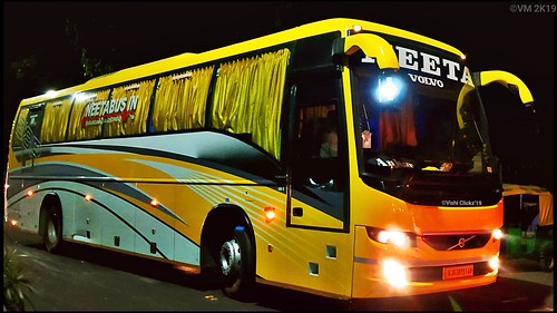 Neeta Travel Volvo B8r Semi Sleeper Coach Bus A Photo On