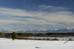 Lake Eschenau with Chiemgau Alps (Alexander Kraus) Tags: frost bayern landschaft schnee sunny bavaria landscape winter snow canon ef 70200 l lake see