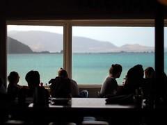 Maranui Cafe (BobJewers) Tags: wellington newzealand window view breakfast cafe