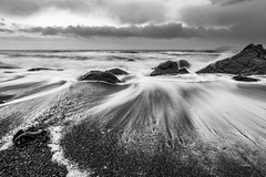 White Rock Beach, Killiney, Ireland (darkmavis) Tags: atlantic beach clouds cloudy ireland irishsea longexposure movement rocks sea seaside sunset waves whiterock winter dúnlaoghairerathdown ie
