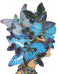 Blue (dadadreams (Michelle)) Tags: blue butterflies collage februllage