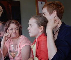 Are you sure about that? (mikecogh) Tags: henleybeach restaurant family celine river aunty niece conversation allison daughter
