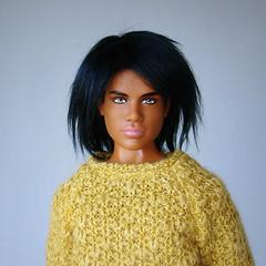 Texas Ken with wig (Deejay Bafaroy) Tags: 2012 texas am university ken doll puppe aa african american mattel portrait porträt wig perücke