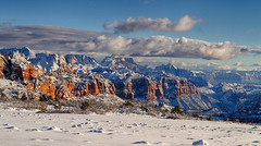 Zion: from the road to Kolob Terrace (swissuki) Tags: us ut winter zion national park landscape sky nature snow
