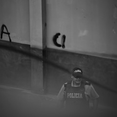 They think they're watching me but I'm watching them (zemarti) Tags: sony a7 signstek sigma 70300mm spy street streetphoto photography black white