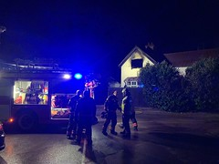 House fire - Granchester - South Cambs - 17/2/2019 (Cambridgeshire Fire and Rescue Service) Tags: firefighter firefighters fire engine truck granchester cambridge cambridgeshire blue lights