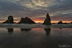 19a (Hilary Bralove) Tags: reflection bandon oregoncoast oregon pacificnorthwest pacific ocean sunset seascape landscape beach nikon colorful