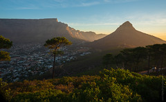 South Africa Table Mountain and Lions Head (www.mikereidphotography.com) Tags: southafrica capetown moon sunset landscape city africa fuji gfx50s