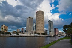 Tampa Skyline (The Vintage Lens) Tags: tampa skyline buildinf river cities