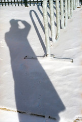 untitled (kaumpphoto) Tags: mamiya nc1000s color kodak portra 800 shadow abstract snow winter street urban city selfportrait fence white curve minneapolis