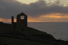 3KA12417a_C (Kernowfile) Tags: cornwall cornish pentax botallack whealedward mine enginehouse sunset water reflections hills slope sky cloud tincoast horizon sunlight waves sunsetlight
