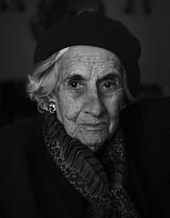 Luchi (.Betina.) Tags: woman betinalaplante bb blackandwhite monochrome mood mono moody age portrait portraiture hat style class elegant elegance 2019