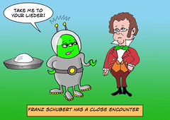 Close Encounter of the Unfinished Kind (Ivan Kaminoff) Tags: alien franzschubert et extraterrestrial encounter lieder takemetoyourleader cartoon comics photoshop wacom digital ufo flyingsaucer