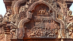 Banteay Srei, Angkor, Cambodia (Julian Myles Fidler) Tags: banteay srei angkor wat siem riep cambodia tomb raider temple citadel women intricate stone carving stunning architecture ancient khmer culture empire hindu