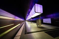 HAFENCITY UNIVERSITÄT train leaving (Ni1050) Tags: hafencity universität ninicrew ninis 2019 ni1050 sony a7r2 ilce7rm2 a7rii inmotionblurred bewegungsunschärfe lightstream lichtspuren ubahn zug train motion bewegung hamburg subway tube metro underground tunnelbana licht light blue blau illunination bahnsteig voigtlanderheliarhyperwide10mmf56 voigtländer 10mm ww weitwinkel wide angle ultraweitwinkel ultra