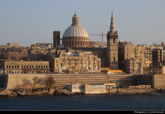 Valletta seen from Tigne Point, Sliema, Malta (JH_1982) Tags: view cityscape skyline aussicht urban city tigne point sliema tassliema 斯利馬 슬리마 слима st pauls procathedral ilprokatridral ta san pawl prokathedrale paulus procatedral pablo cattedrale paolo 圣保罗代座堂 собор святого павла valletta ilbelt valetta valeta valette 瓦莱塔 バレッタ 발레타 валлетта فاليتا malta 马耳他 マルタ 몰타 мальта مالطا