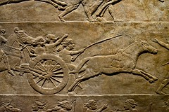 London 2018 – British Museum – Riding a chariot (Michiel2005) Tags: ashurbanipal chariot assyria exhibition tentoonstelling assyrian relief reliëf britishmuseum bm uk unitedkingdom greatbritain vk verenigdkoninkrijk grootbrittannië engeland england london londen