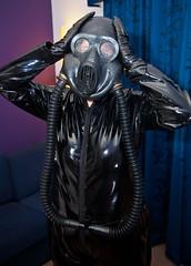 IMG_8938 (traveller-28) Tags: pvc catsuit alien gasmask slave domme fetish spacesuit sub