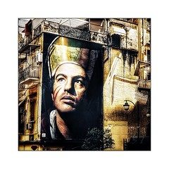 Napoli walls 12 (Jean-Louis DUMAS) Tags: napoli portraiture portrait streetlife hdr artist artistique artistic art artdelarue yellow jaune streetart street murs italia italie naples