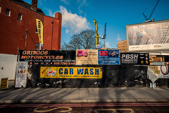 All your motoring needs..... (A A A A Dafydd Penguin) Tags: sign city times gringo cash wash unner suburb inner east end london limehouse urban district taxi car motoring street colour words signs leica m10 21mm super elmar f34