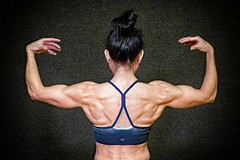 Female bodybuilder (ABWphoto!) Tags: one woman bodybuilder weights posing muscles backform shoulders fit fitness healthy posed