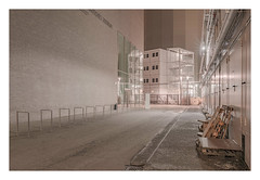 A place for internal functions (Markus Lehr) Tags: architecture innercity transformation light functionallandscape concrete urbanspace nopeople peoplelessness manmadelandscape contemporaryphotography night longexposure berlin germany markuslehr