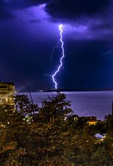 Blesk (feerkoo) Tags: lightning bolt canon eosm efm1855mmf3556 croatia crikvenica thunderbolt