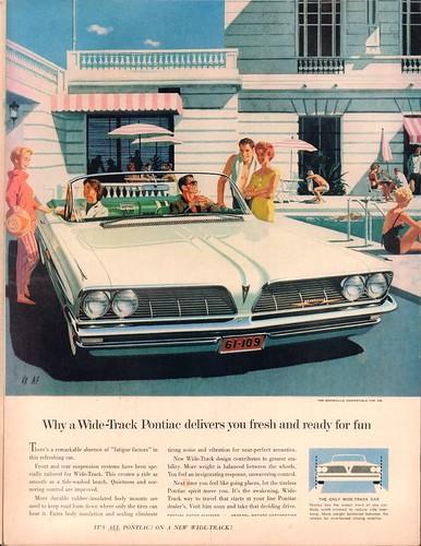 1960 Pontiac Bonneville Advertisement Life Magazine December 5 1960