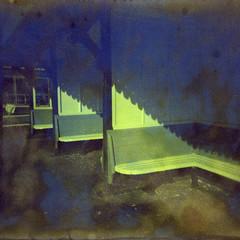 2226 Seaside Shadows (Monobod 1) Tags: camerachalange holga120 cfn expired fujireala 100 c41 epsonv800 toy camera