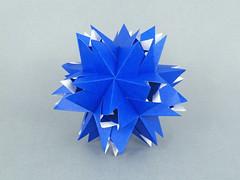 Blizzard (masha_losk) Tags: kusudama кусудама origamiwork origamiart foliage origami paper paperfolding modularorigami unitorigami модульноеоригами оригами бумага folded symmetry design handmade art