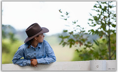 Cowgirl (Bear Dale) Tags: cowgirl our local farm show nikkor afs 70200mm f28e fl ed vr nikon d850 ulladulla southcoast new south wales shoalhaven australia beardale lakeconjola fotoworx milton nsw nikond850 photography framed nature girl agricultural cattle yard cows akubra hat bokeh dof depthoffield