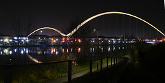 Infinity Bridge Thornaby-on-Tees (jamesdavidboro2) Tags: infinity bridge teeside tees river canon 400d thronaby stocktonintees bridges neon
