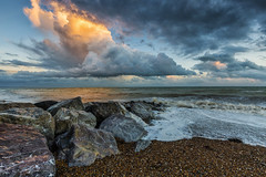 Fire in the sky (Through Bri`s Lens) Tags: sussex beach shingle rocks clouds sky skies brianspicer canon5dmk3 canon1635f4 lancing worthing
