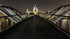Great view of St Pauls Cathedral (pboolkah) Tags: london england unitedkingdom gb canon cathedral bridge skyline cityscape river night