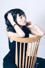 portrait girl (Xxy_yoshi_yxX) Tags: canon sigma sony flash ストロボ 85mm 日本 japan ガール girl woman portrait ポートレート black white スタジオ studio photo