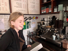 Young Female Barista Lauging (Jonatan Svensson Glad (Josve05a)) Tags: happy smiling inside people smile indoors female person adult cheerful indoor interior work business laughing shop service coffee cafe restaurant counter barista