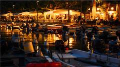 The port of Garda on Lake Garda at night (Ostseetroll) Tags: garda gardasee geo:lat=4557555360 geo:lon=1070577428 geotagged ita italien veneto lakegarda hafen port fischerboote fishingboats nachtaufnahme nightshot olympus em5markii